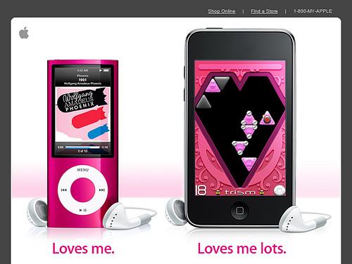 Apple iPod Valentine's Day Mailer